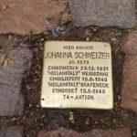 """Stolperstein """"Johanna Schweizer"""""""